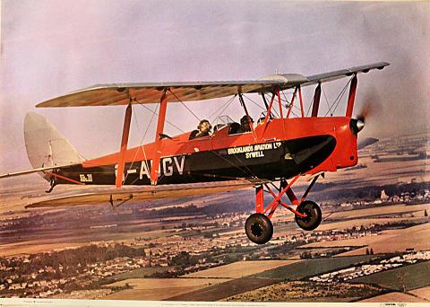 DH82A Tiger Moth Poster