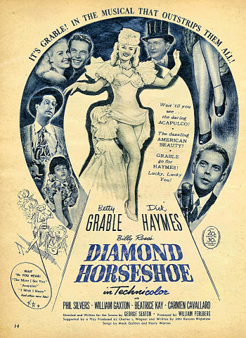 Diamond Horseshoe Vintage Ad