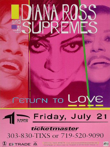 Diana Ross & The Supremes Poster