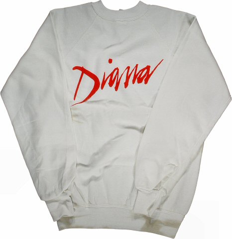 Diana Ross Men's Vintage Sweatshirts reverse side