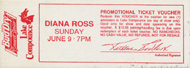 Diana Ross Vintage Ticket