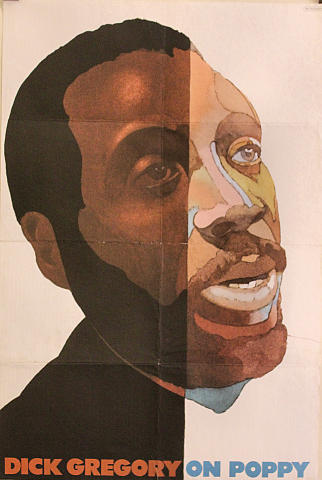 Dick Gregory On Poppy Poster