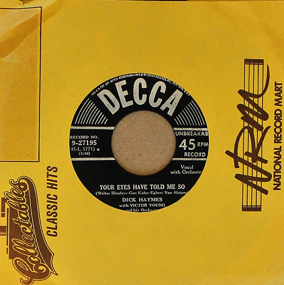 "Dick Haymes Vinyl 7"" (Used)"
