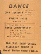 Dick Jensen Handbill