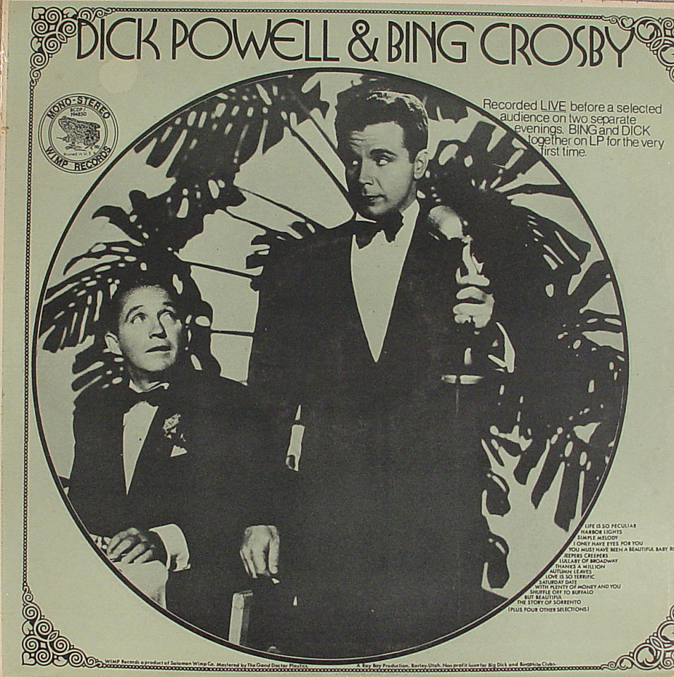 "Dick Powell & Bing Crosby Vinyl 12"" (New)"
