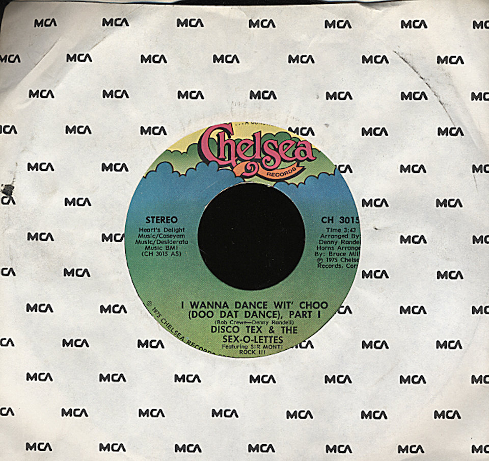 "Disco-Tex and the Sex-O-Lettes Vinyl 7"" (Used)"