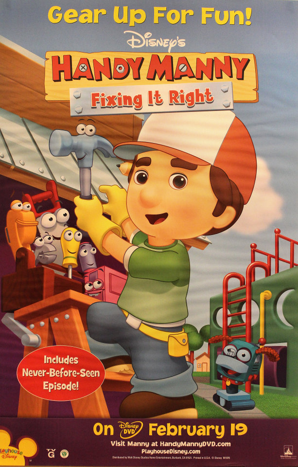 Disney's Handy Manny: Fixing It Right Poster