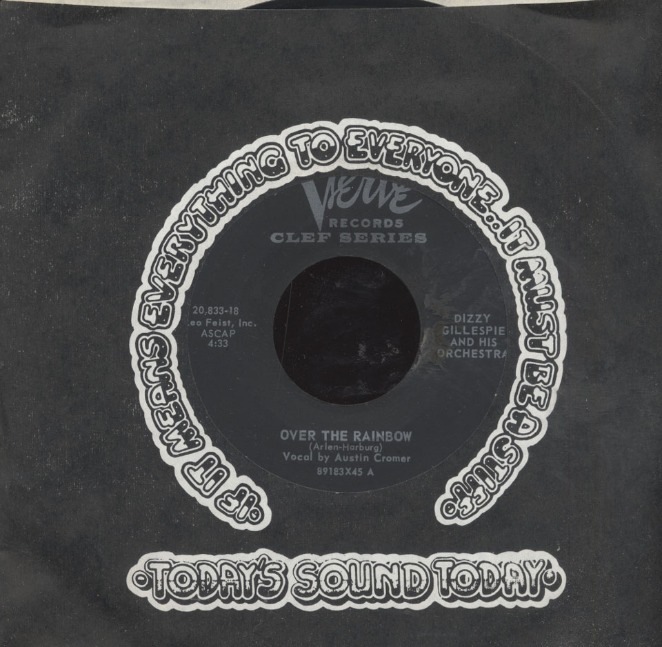 """Dizzy Gillespie And His Orchestra Vinyl 7"""" (Used)"""