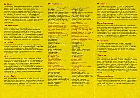 Dizzy Gillespie Quartet Program reverse side