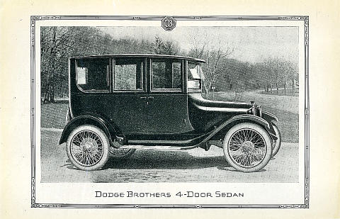 Dodge Brothers: 4-Door Sedan Vintage Ad