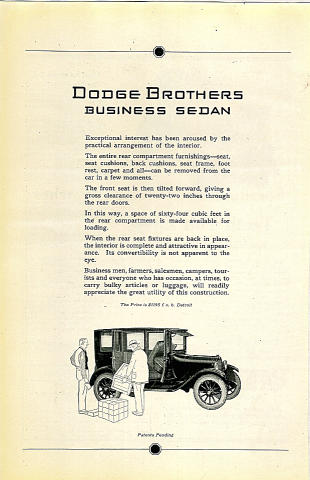 Dodge Brothers: Business Sedan Vintage Ad