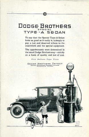 Dodge Brothers: Special Type-A Sedan Vintage Ad