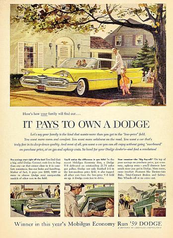Dodge Coronet Vintage Ad