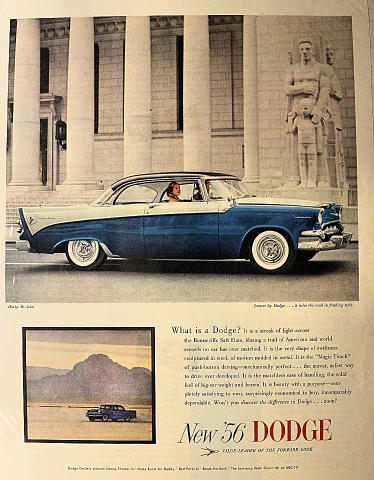 Dodge Lancer: ...It Rules The Road In Flashing Style Vintage Ad
