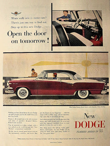 Dodge Royal Lancer: Open The Door On Tomorrow! Vintage Ad