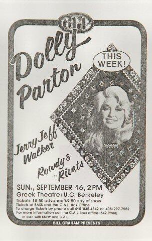 Dolly Parton Handbill