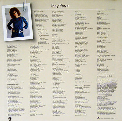 """Dory Previn Vinyl 12"""" (Used)"""