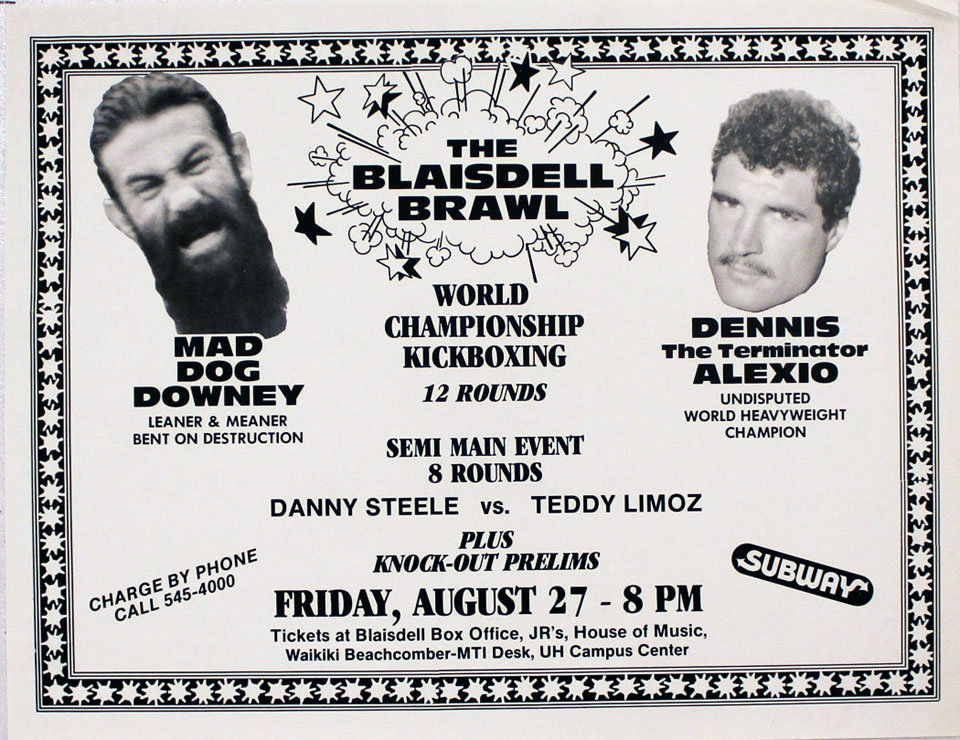 Downey vs. Alexio Handbill