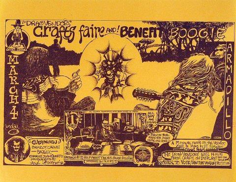 Drag Vendor's Crafts Faire and Benefit Boogie Handbill