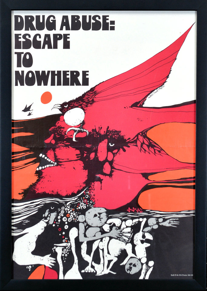 Drug Abuse: Escape To Nowhere Framed Poster
