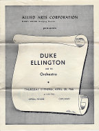 Duke Ellington and His Orchestra Program