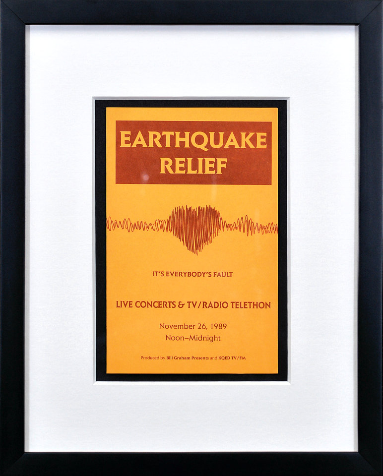 Earthquake Relief Benefit Framed Program