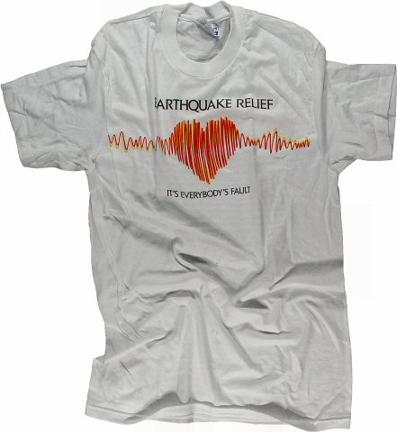 Earthquake Relief Benefit Men's Vintage T-Shirt
