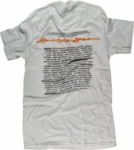 Earthquake Relief Benefit Men's Vintage T-Shirt reverse side