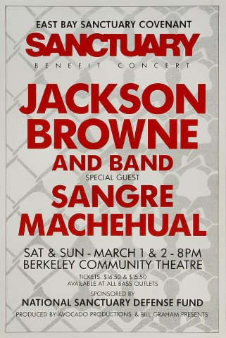 East Bay Sanctuary Covenant Benefit Poster