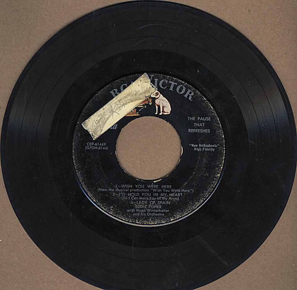 """Eddie Fisher Vinyl 7"""" (Used)"""