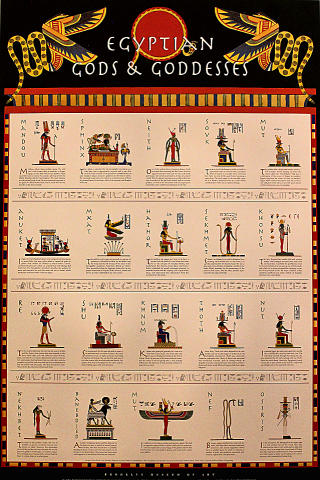 Egyptian Gods & Goddesses Poster