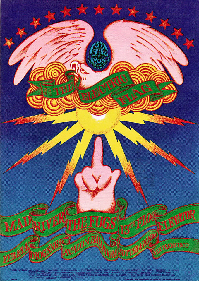 Electric Flag Postcard