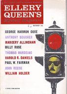 Ellery Queen's Mystery Magazine October 1960 Magazine