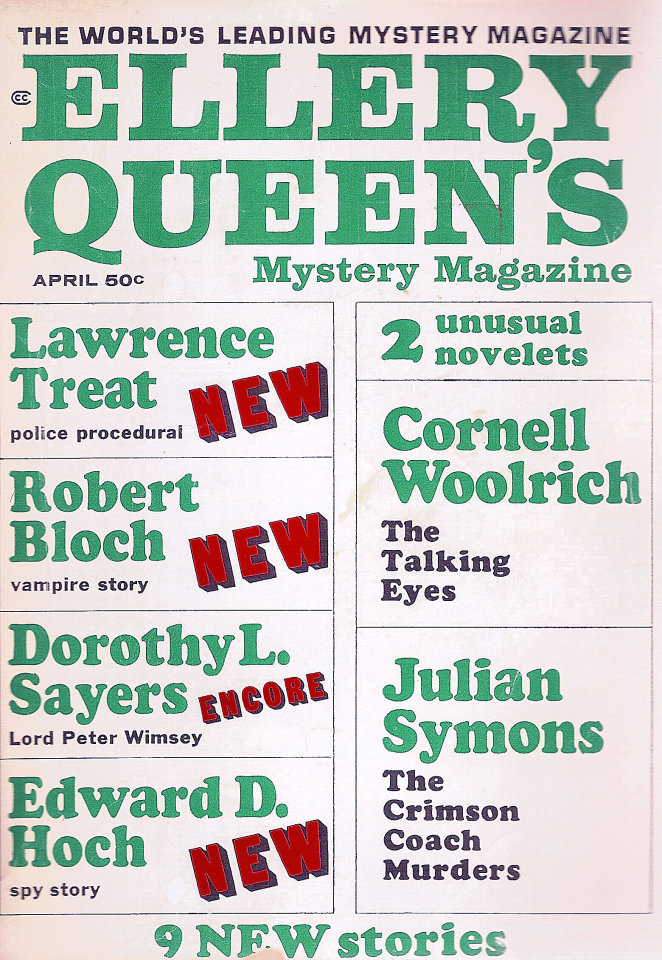 Ellery Queen's Mystery Vol. 49 No. 4