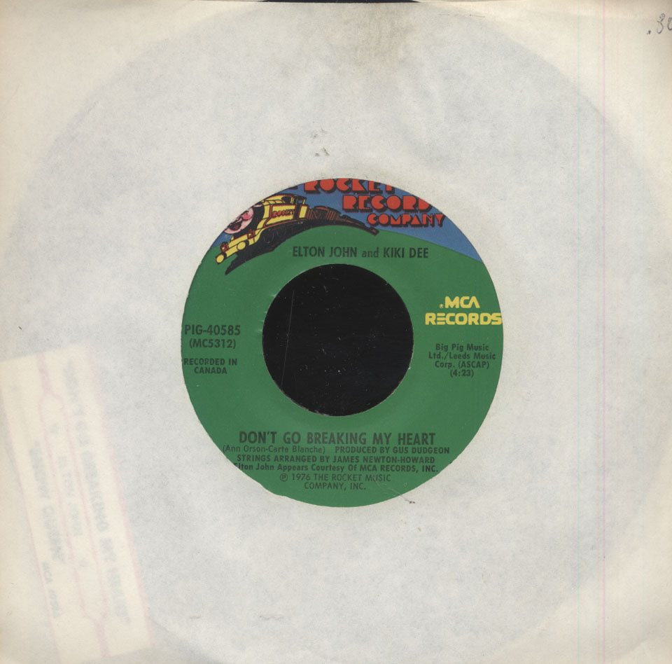 "Elton John and Kiki Dee Vinyl 7"" (Used)"