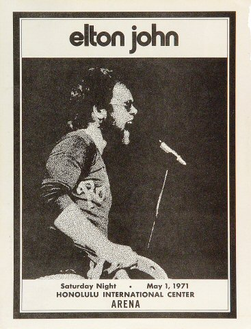 Elton John Handbill
