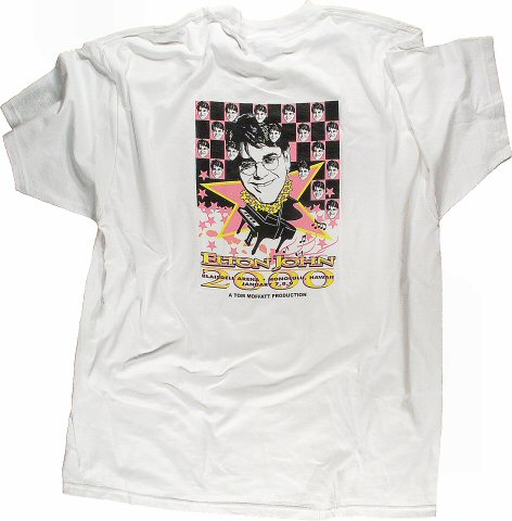 Elton John Men's Vintage T-Shirt reverse side