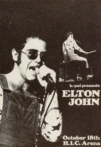 Elton John Poster From Honolulu International Center Oct