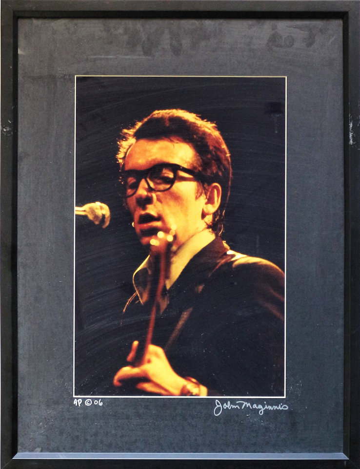 Elvis Costello Framed Vintage Print