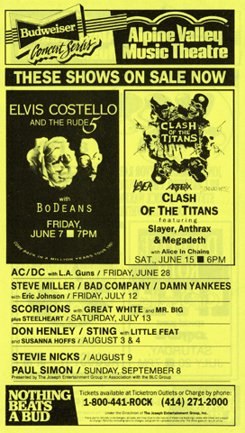 Elvis Costello Handbill