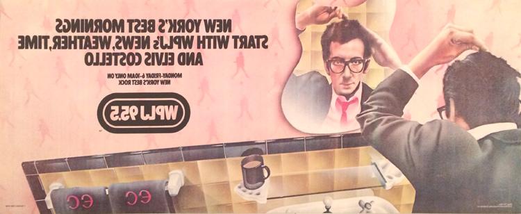 Elvis Costello Poster reverse side