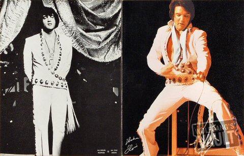 Elvis Presley Program reverse side