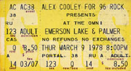 Emerson, Lake & Palmer Vintage Ticket
