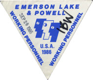 Emerson, Lake & Powell Backstage Pass