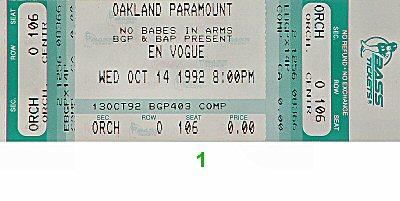 En Vogue Vintage Ticket