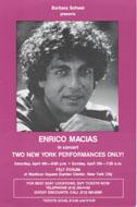 Enrico Macias Handbill
