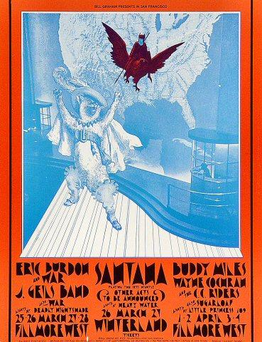 Eric Burdon & War Postcard