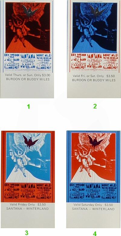 Eric Burdon & War Vintage Ticket