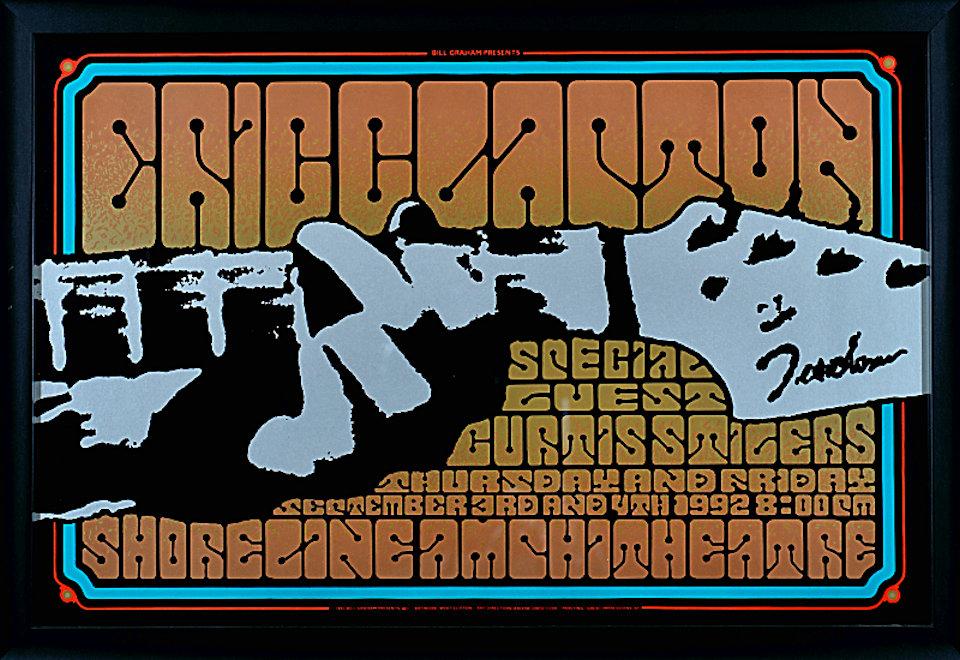 Eric Clapton Framed Poster