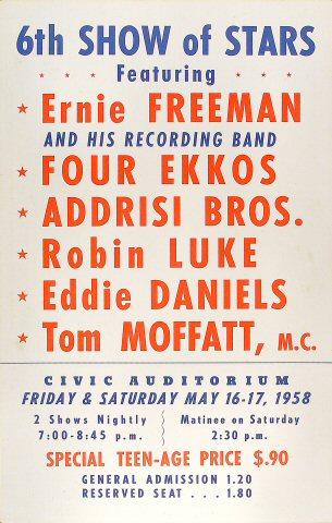 Ernie Freeman & Four Ekkos Poster